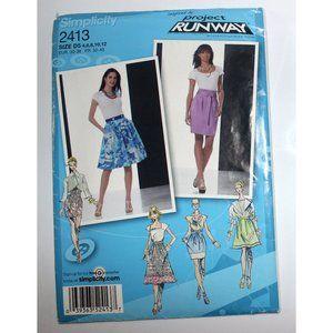 UNCUT Simplicity 2413 sewing pattern skirts